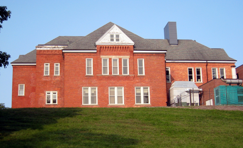 Harrison School Building, east elevation, 2020