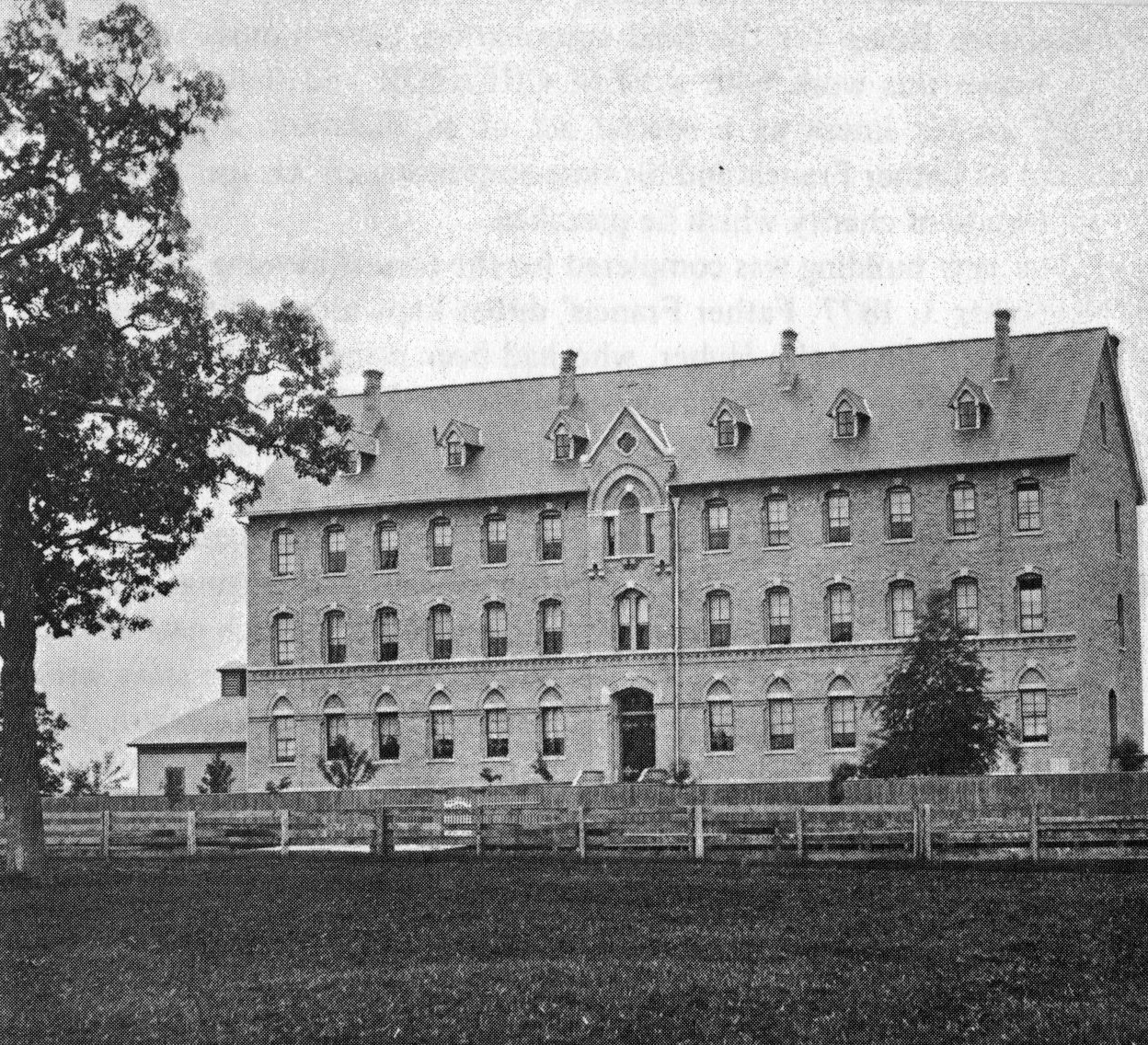 CSA motherhouse after the first wing was completed in 1877.