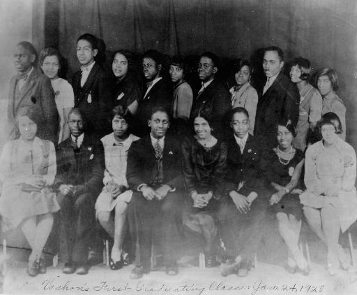 Vashon High School's first graduating class, 1928