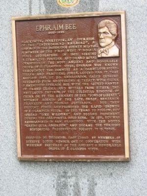 Ephraim Bee Historical Marker