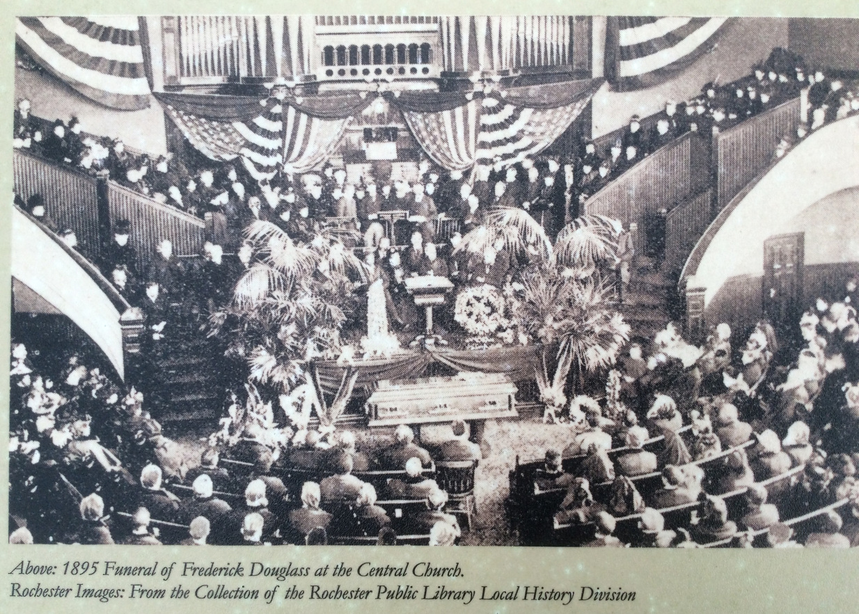 Photograph of Frederick Douglass's funeral service at the Central Presbyterian Church
