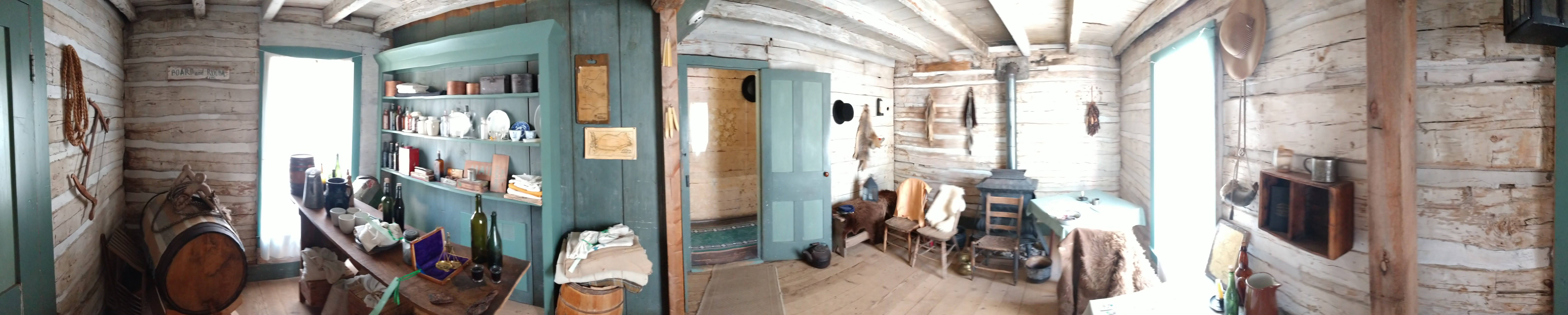 The tavern of the Four Mile House. This is where the men would enter.