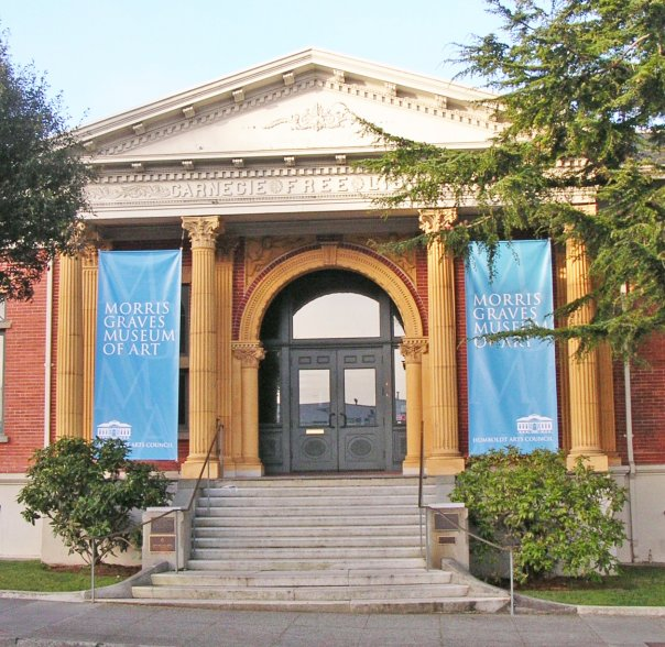 The Morris Graves Museum of Art, formerly the Carnegie Free Library, presents art created locally, regionally, and from around the world.