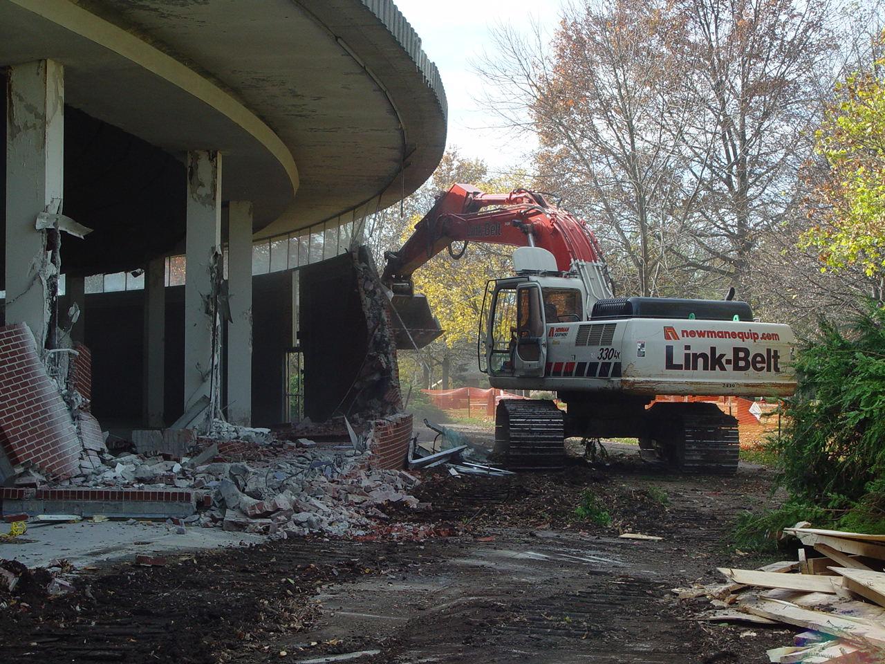 Demolition of Warner Auditorium