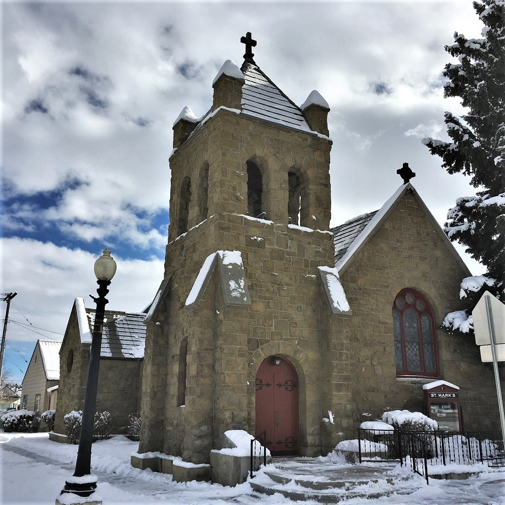 "St. Mark's Episcopal Church was built in 1890. ""Copper King"" Marcus Daly and his wife, Margaret, were early members."