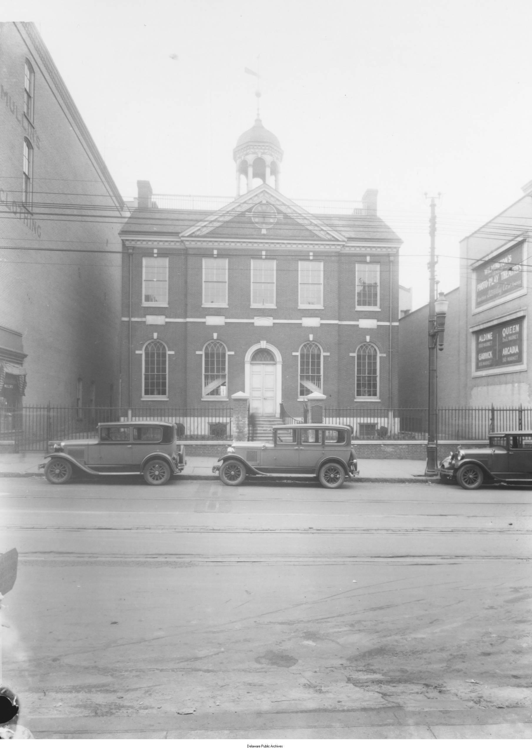 1927 Photo of Old Town Hall in Wilmington, DE.