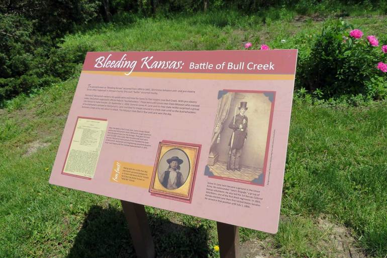 Interpretive panel at the site