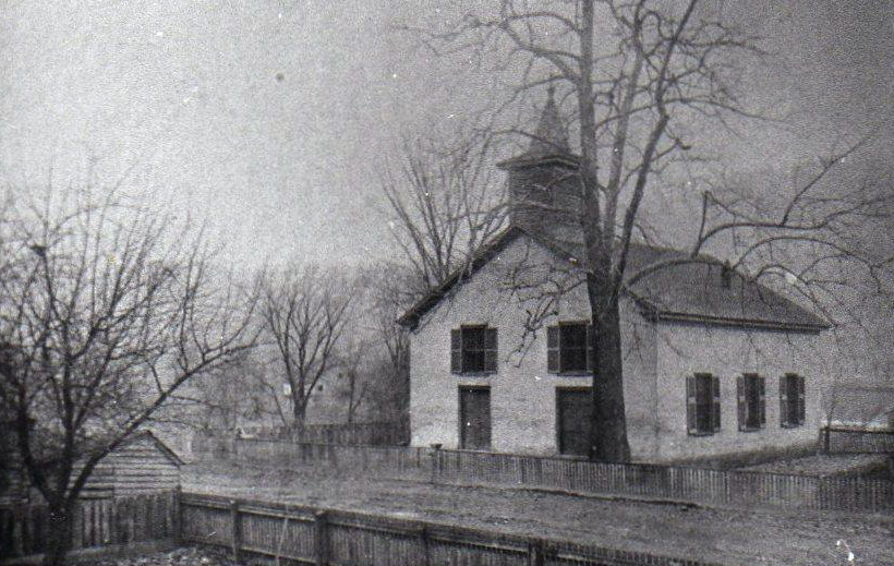 19th-century photo of the church
