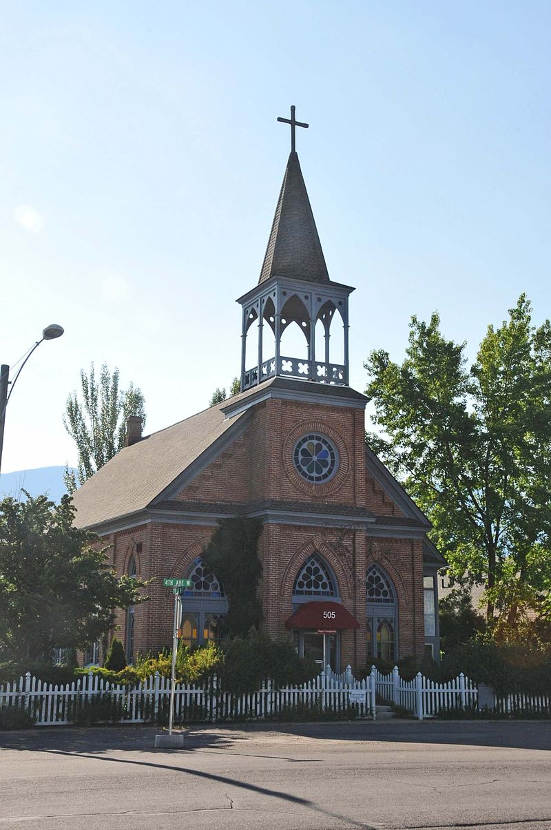 St. Richard's Church was built in 1891. It was the first Catholic church in Columbia Falls and is a fine example of Gothic architecture.