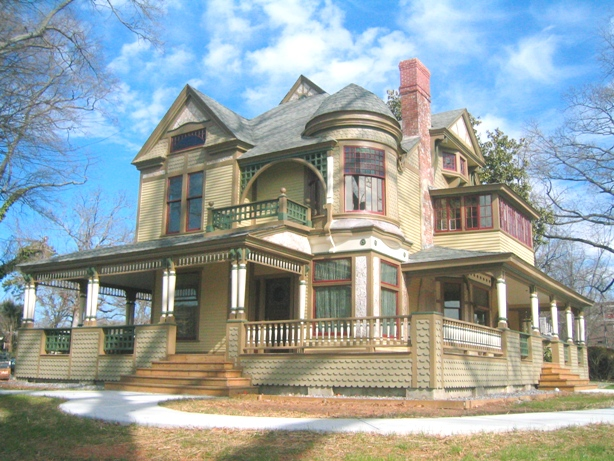 The front of the Harper House