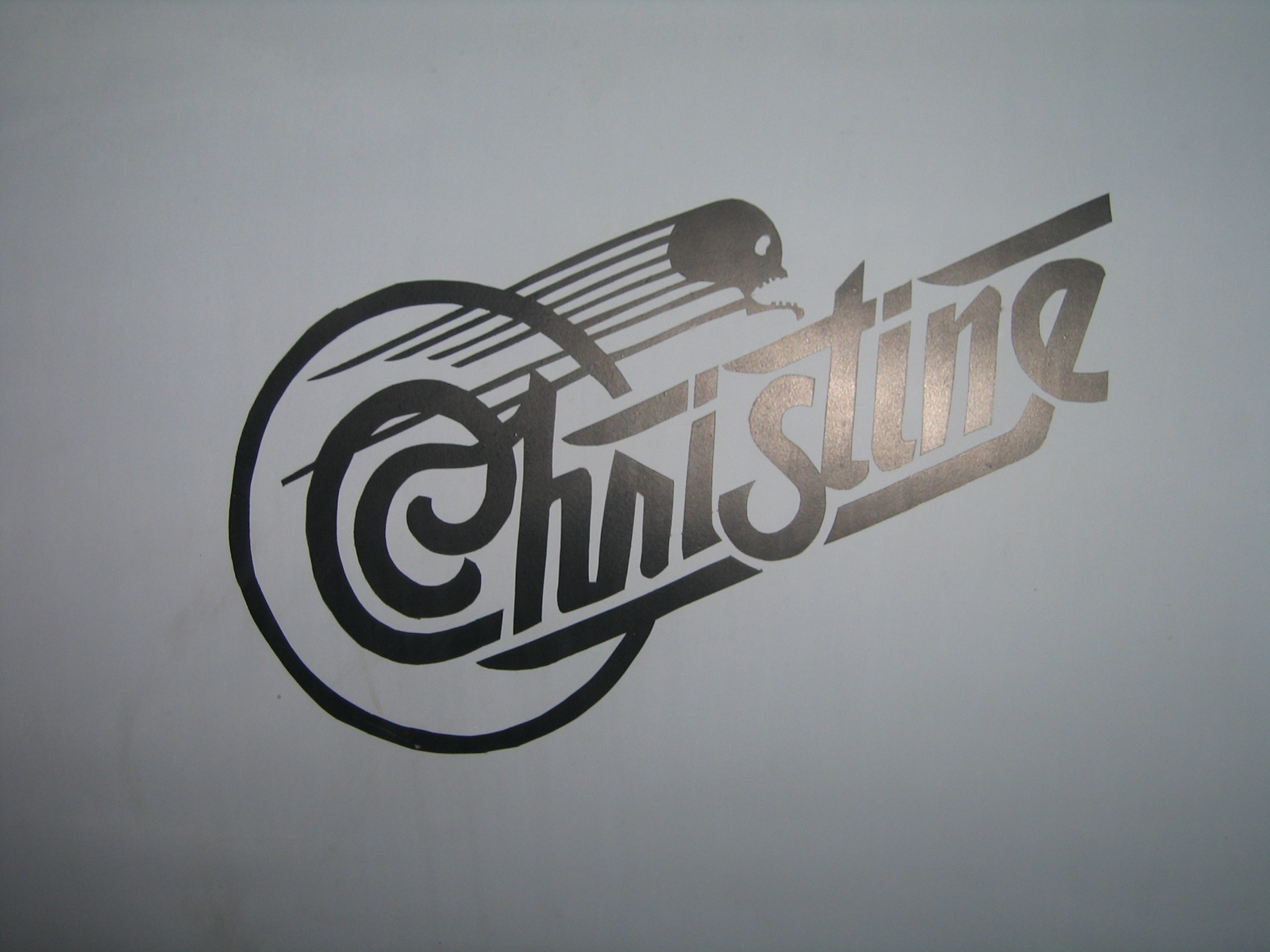 """Christine"" nose art."