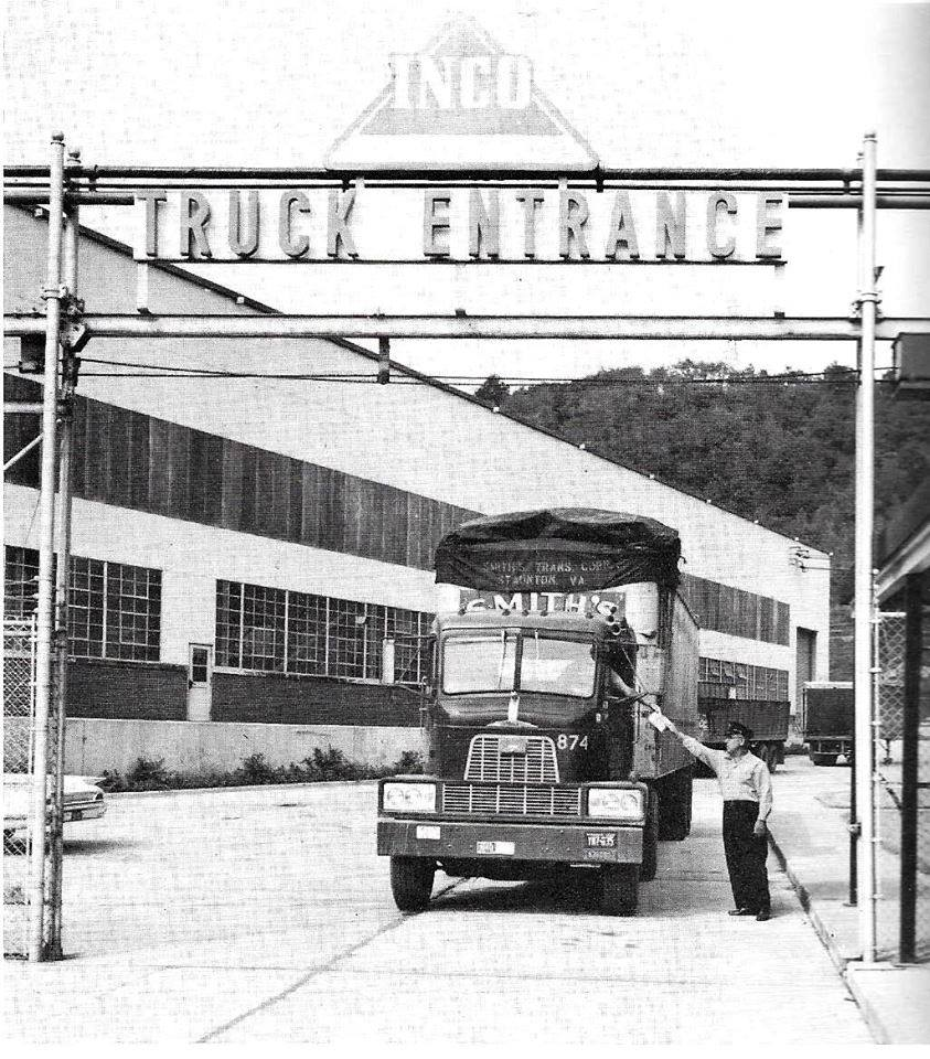 The plant's truck entrance, circa 1962
