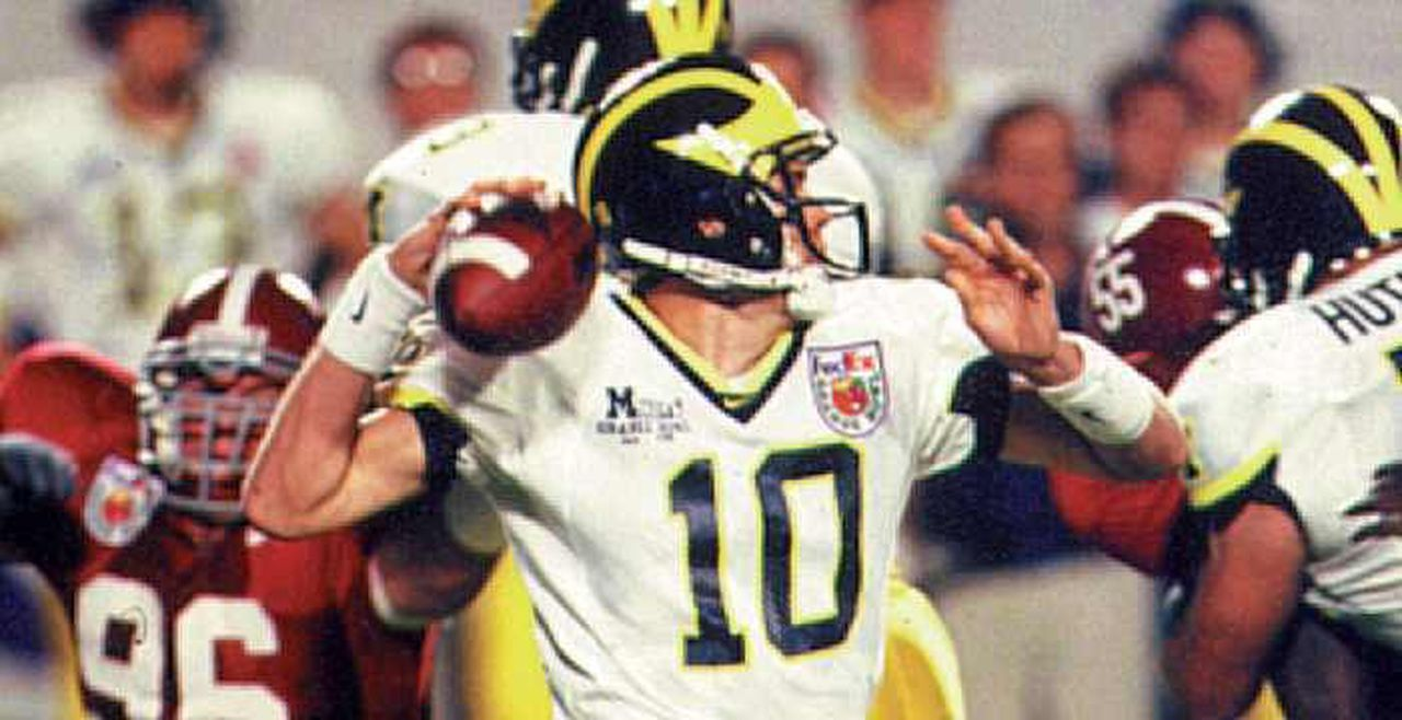 Tom Brady During the 2000 Orange Bowl