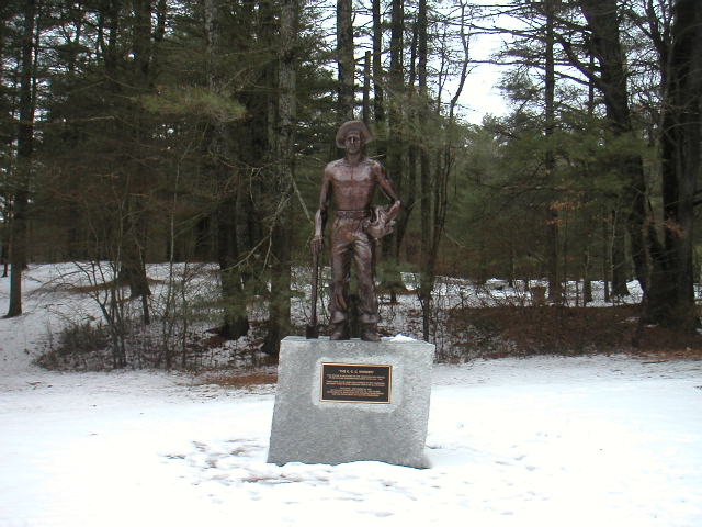 A memorial dedicated to the CCC workers.