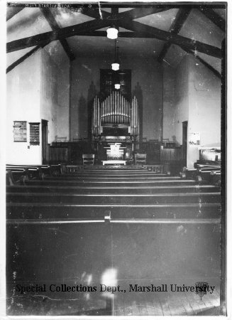 Ebenezer Methodist Church interior, 1939