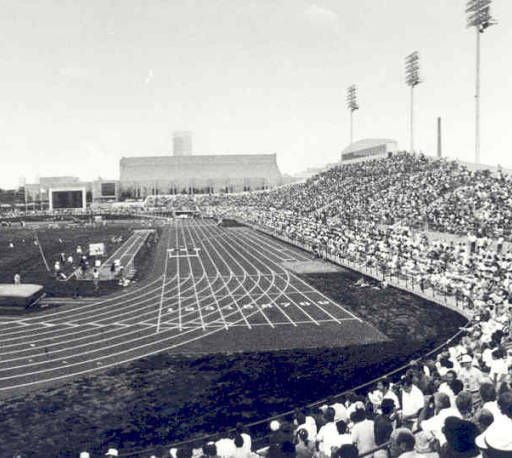 IUPUI  University Library captures in its image collection, what Carroll stadium looks like at full capacity in 1982.