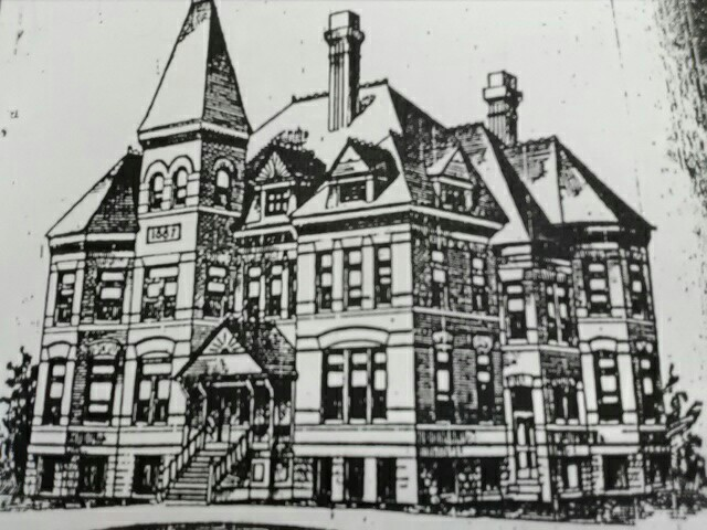 Carthage Collegiate Institute's main building started in 1887 and completed in 1888.