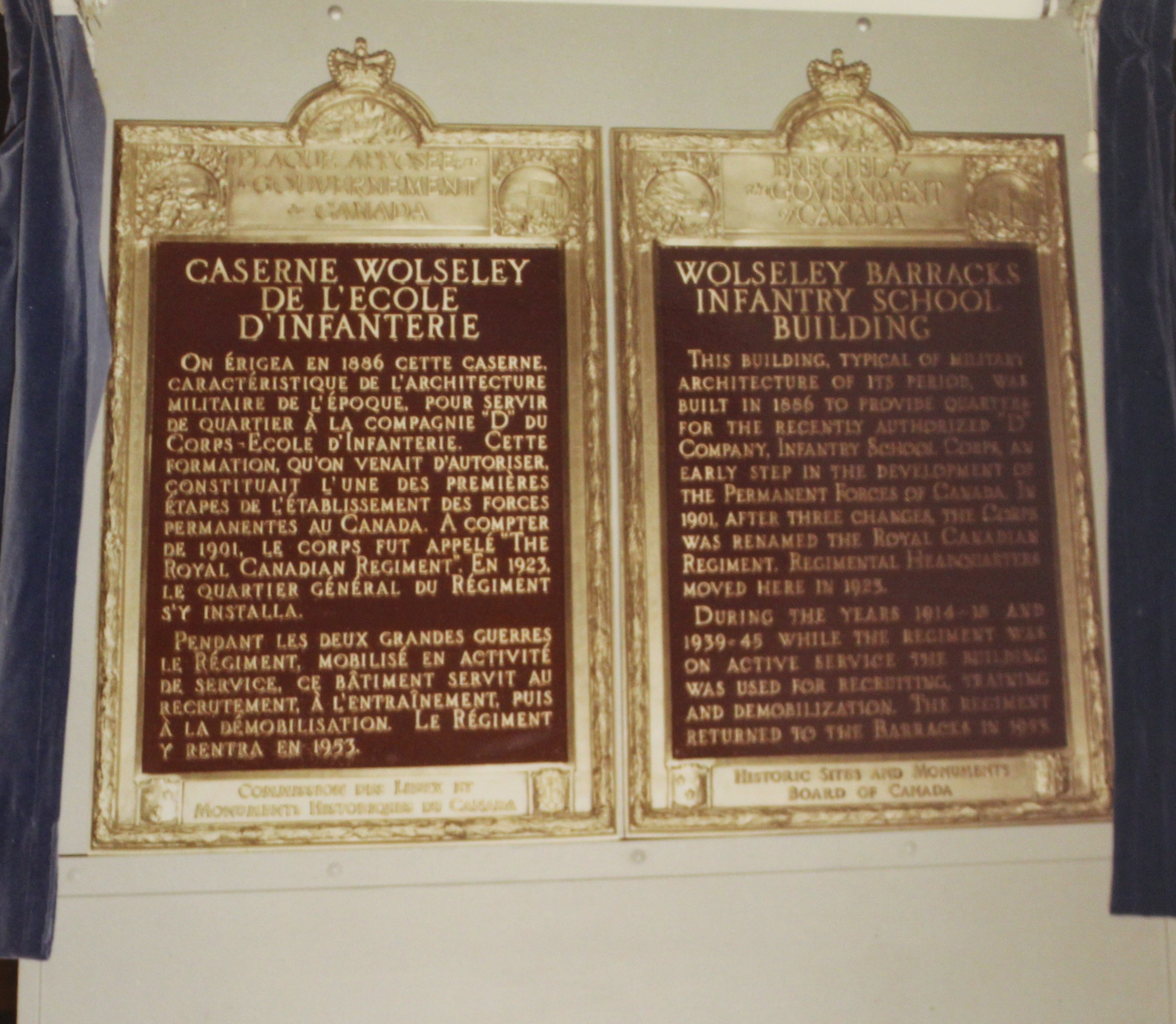 Plaques Given to Commemorate Wolseley Hall 26 June 1970