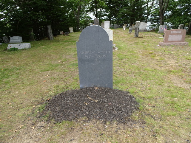 Wyeth is buried with the Olsons in a nearby cemetery.