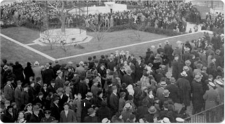 A large crowd gathered for the opening of the reopening of the Menagerie at Central Park, December 2, 1934. Photo by Alajos Schuszler; courtesy of the Parks Photo Archive, Neg. 4602.