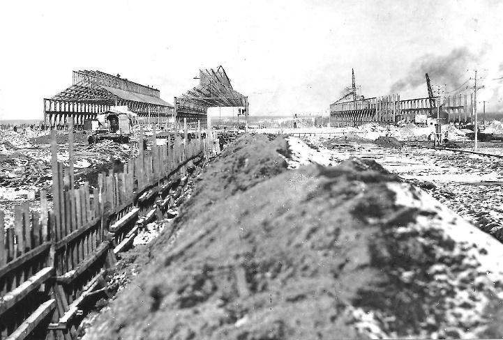 First construction of the South Plant in 1913