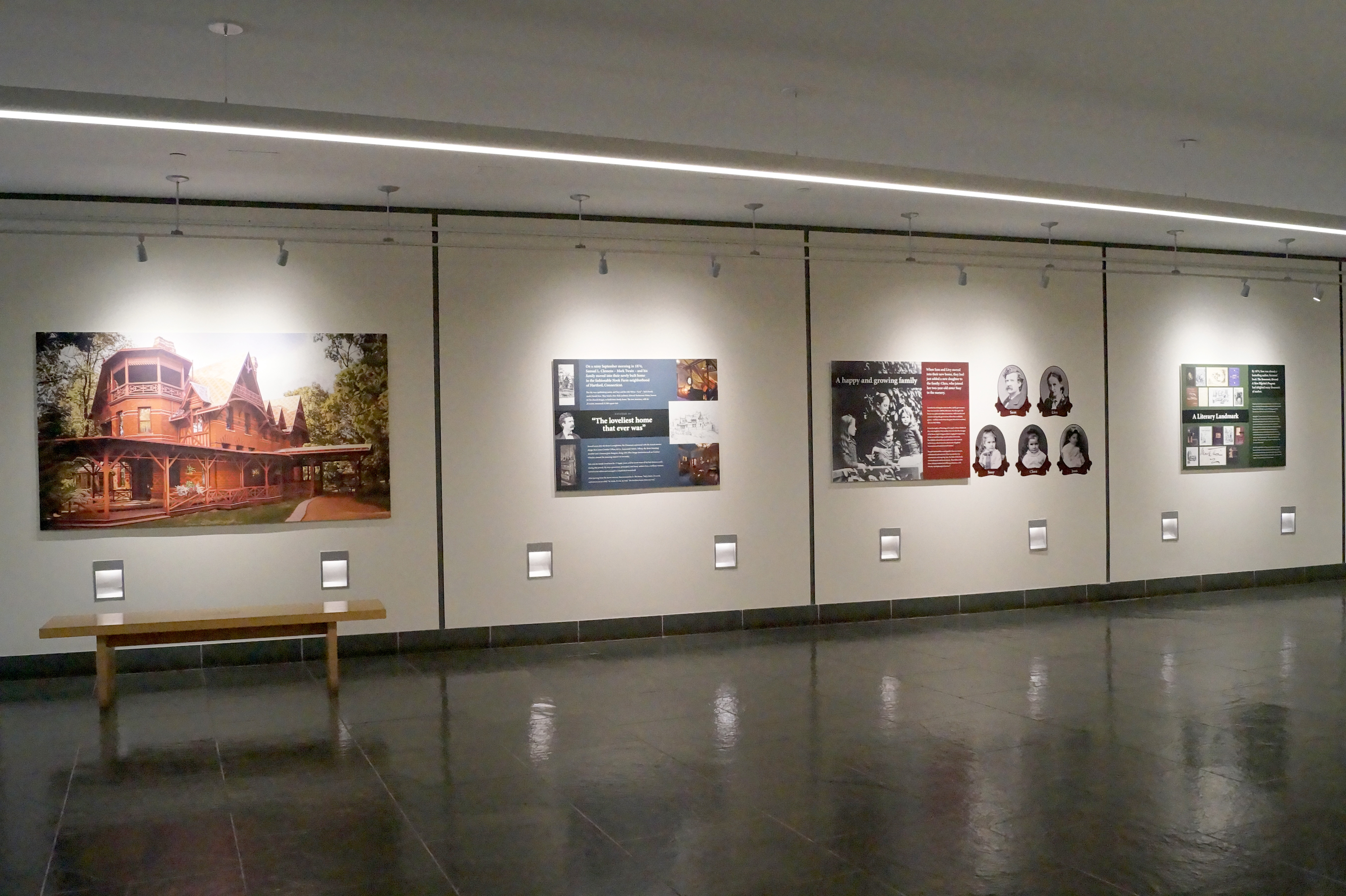 Informational panels located on the hall walls provide information to visitors as the explore the Museum Center.