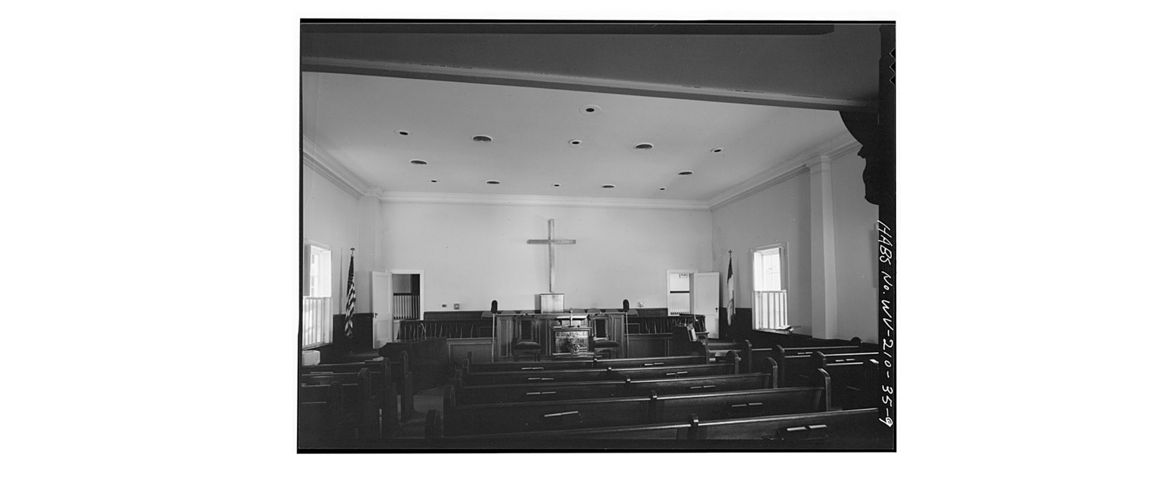 Interior of the church, 1980