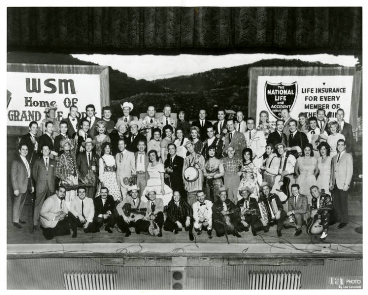 The Grand Ole Opry Cast On The Stage of the Ryman, Early 1960s