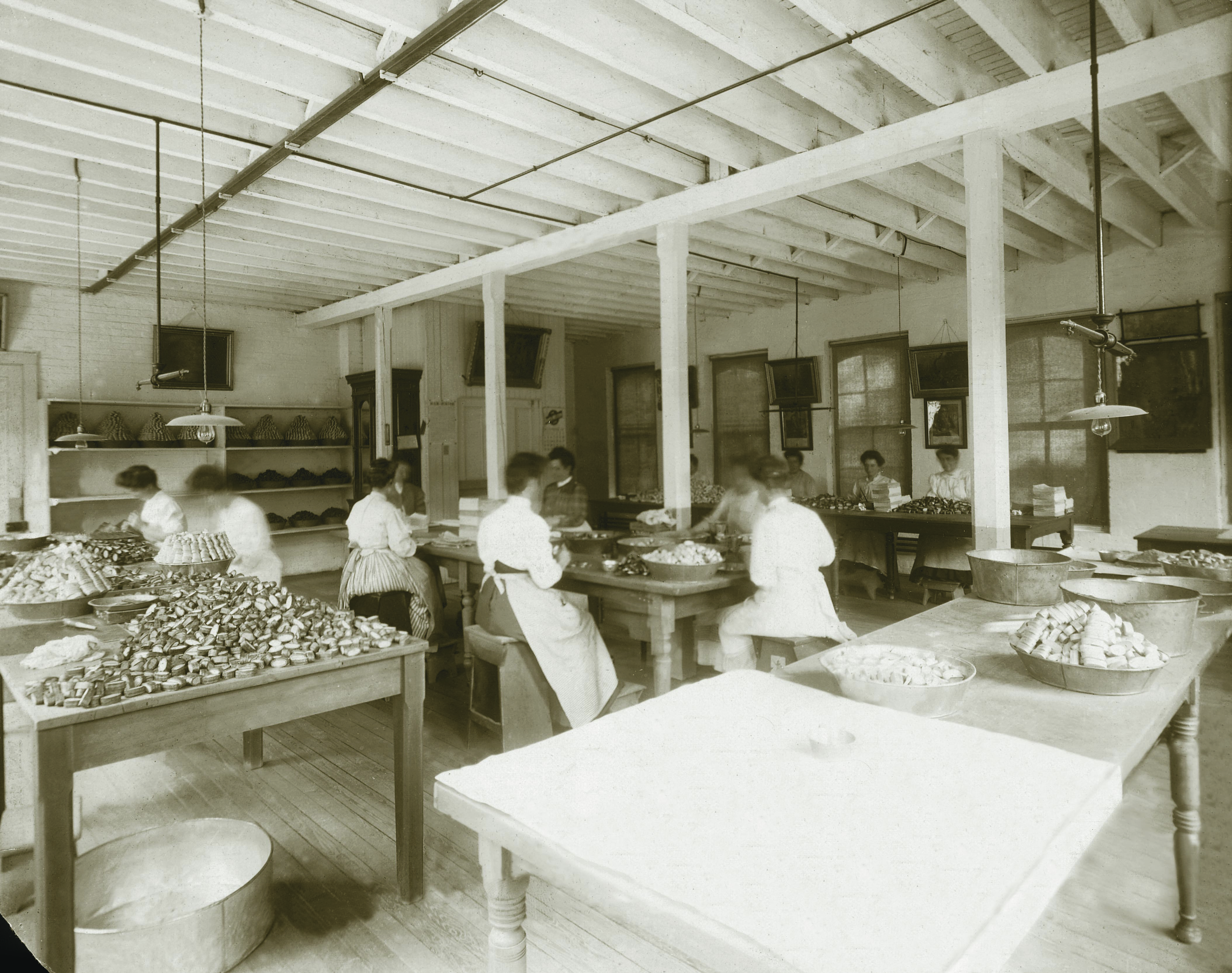 Workers Packing Pills