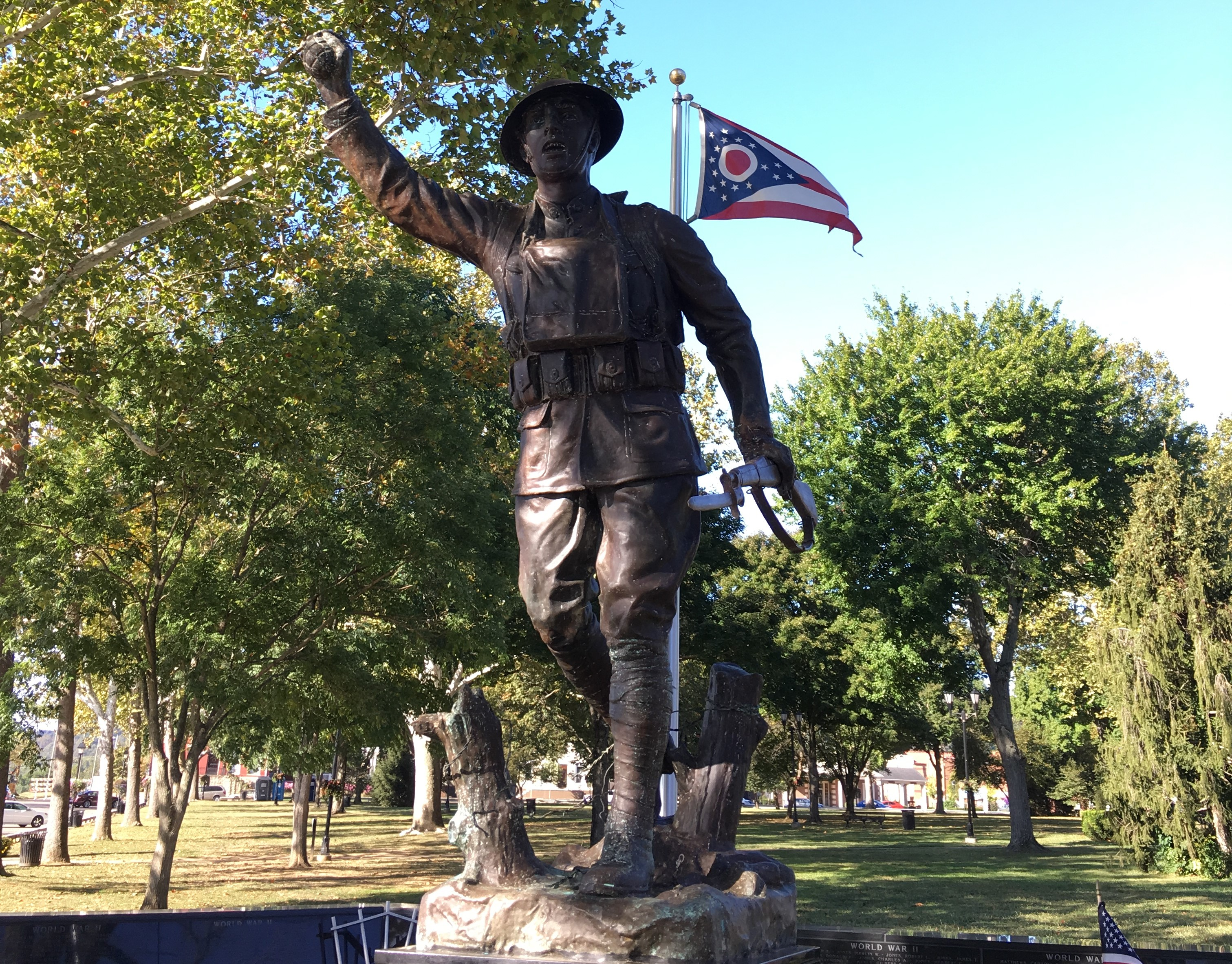 the Dougboy of the Gallipolis city park in memory of the World War 1 vets of the city