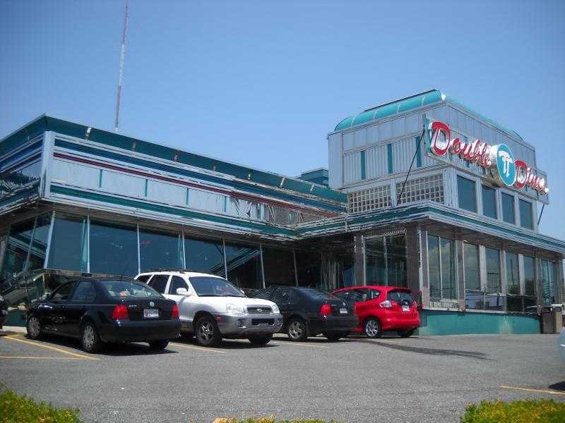 Present-day, active Double T Diner along Route 40 in Catonsville, MD.