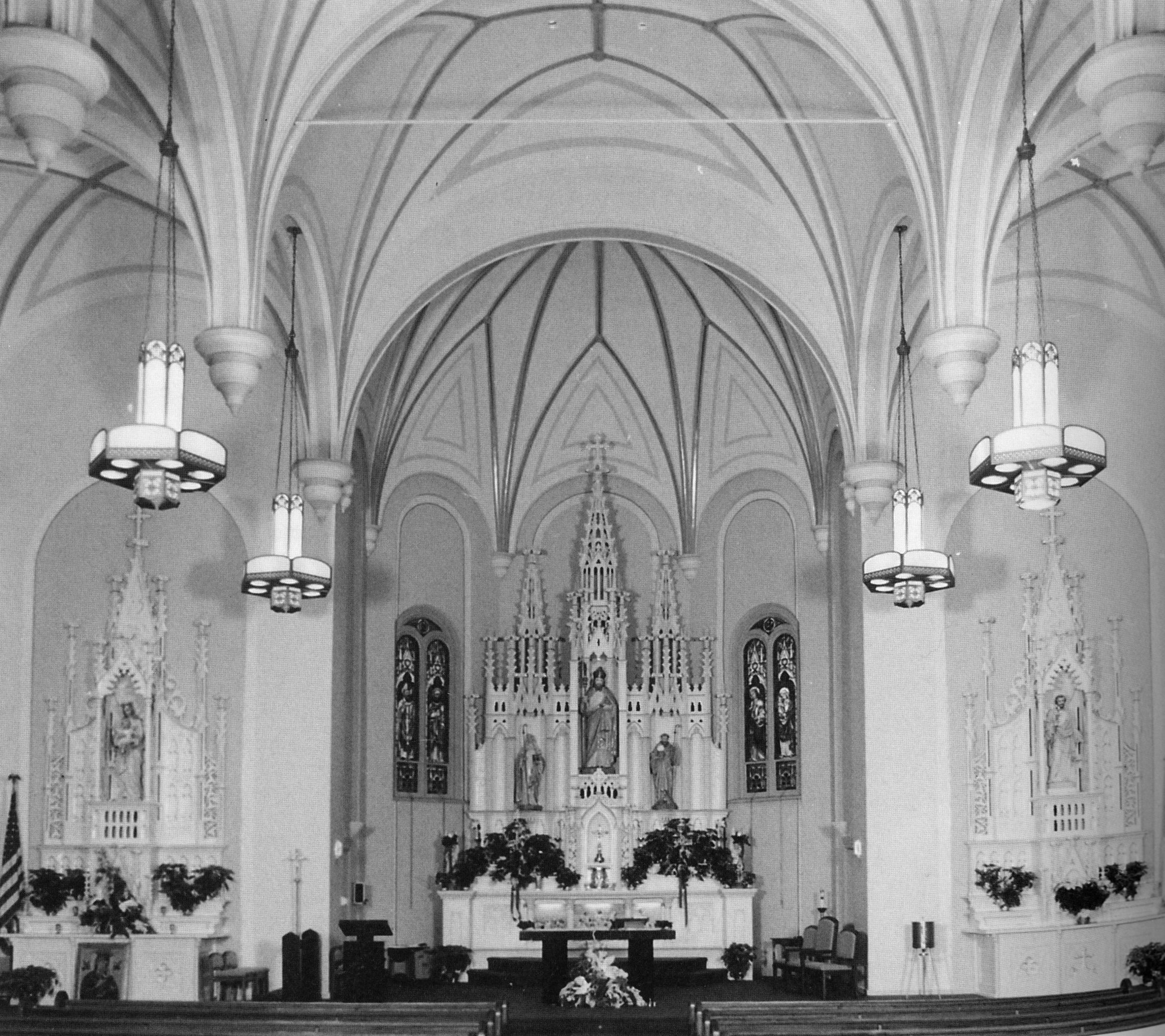 Interior of St. Patrick's Church.