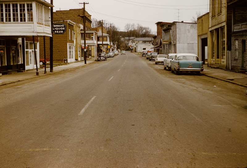 Downtown New Straitsville in the 1950s