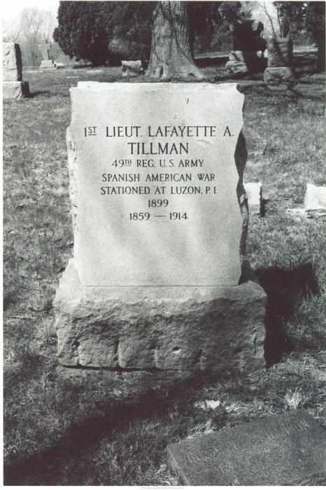 Lafayette A. Tillman, one of the first African Americans appointed to the Kansas City police force, is buried in Highland Cemetery.