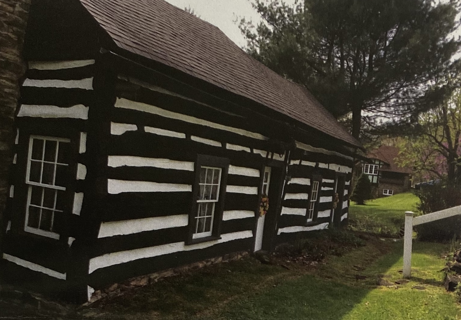 The Lafevre House before it was moved and rebuilt at Hanna's Town