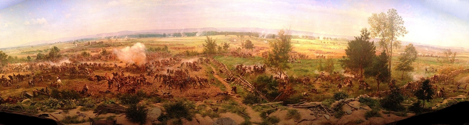 By French Artist Paul Philipoteaux, 1883 - Pickett's Charge