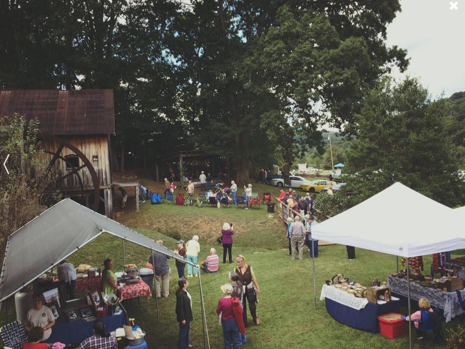An event being held at the grist mill.