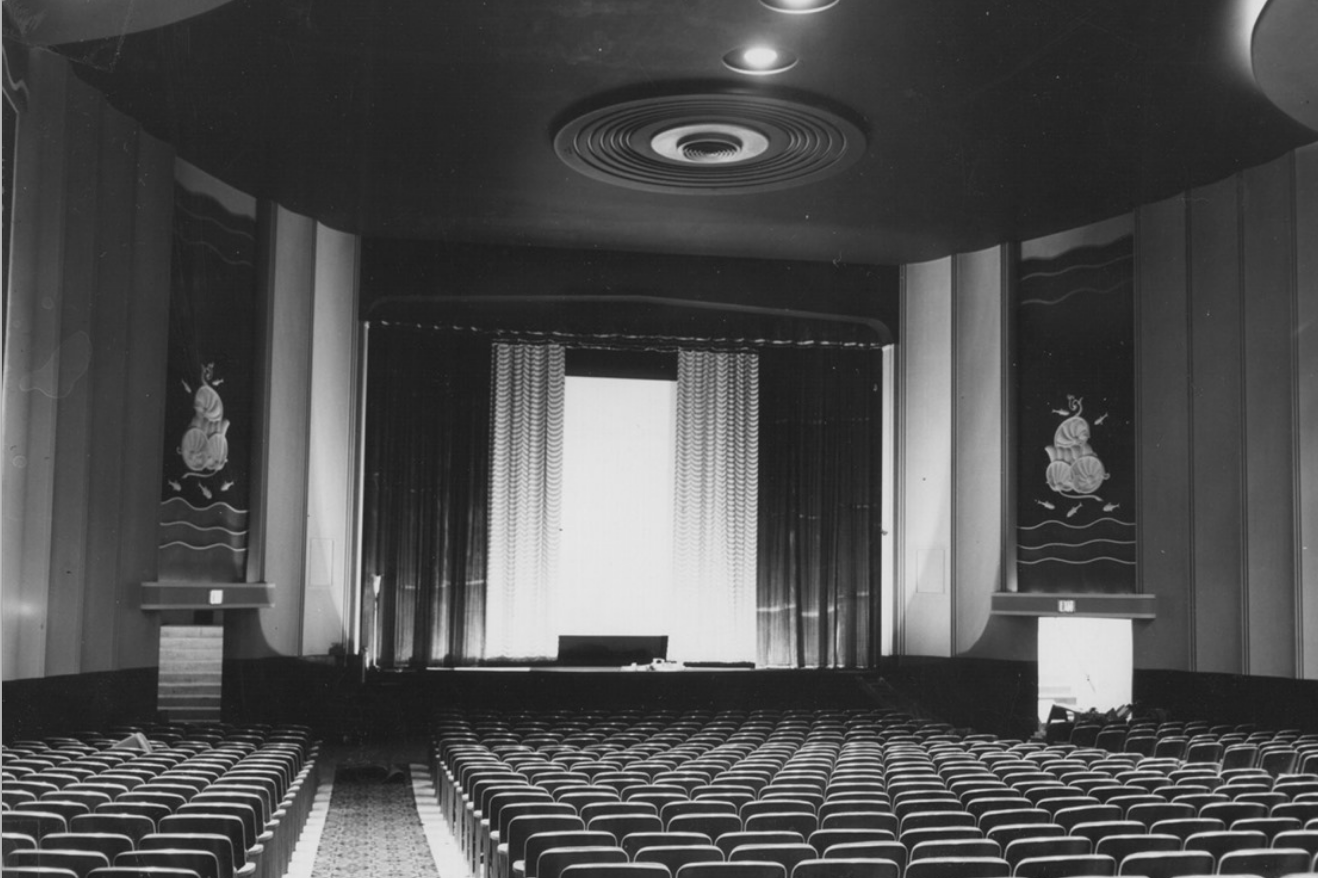 Interior of the brand-new Tipton Theater