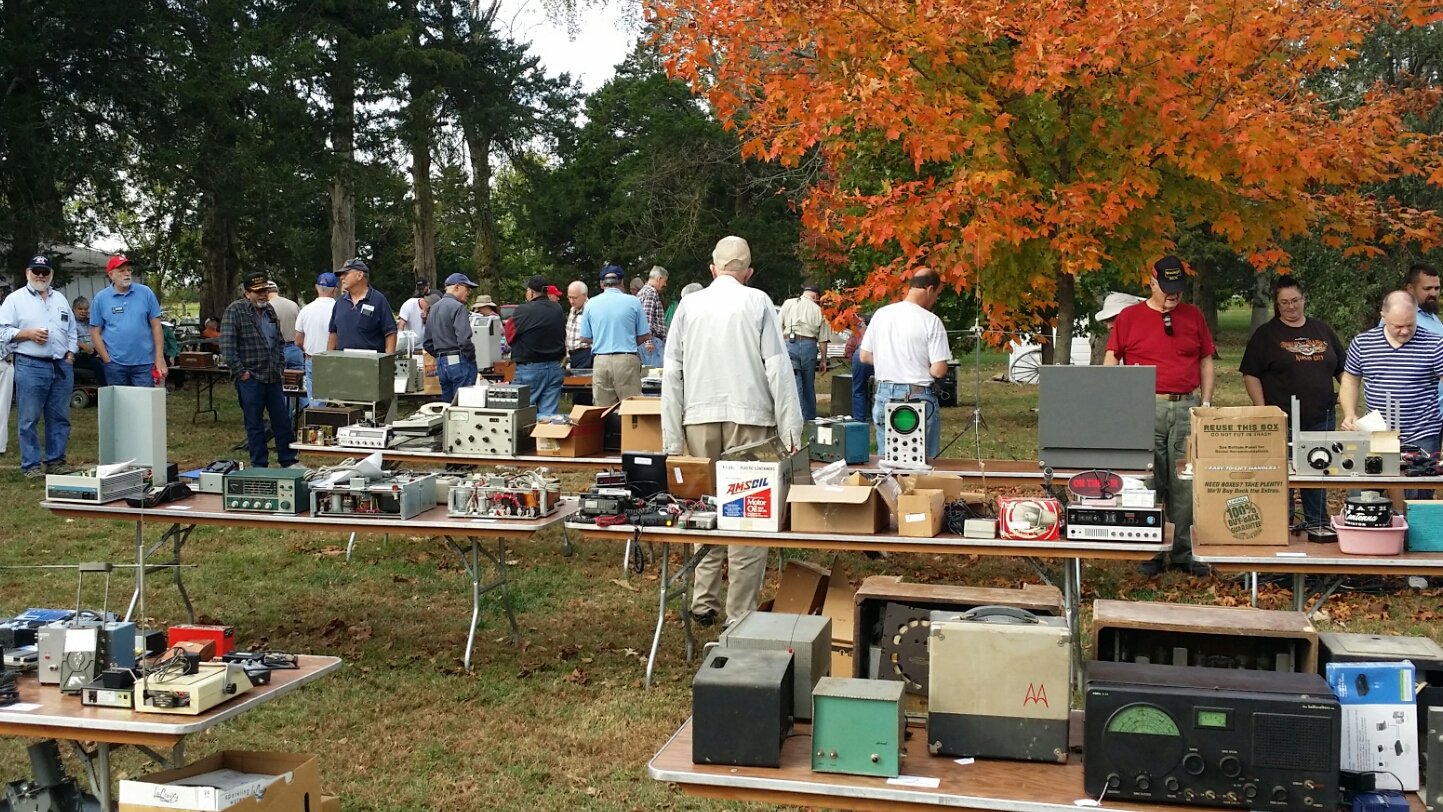 An annual radio auction is held at the site, hosted by a local amateur radio club