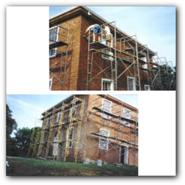 The courthouse being updated in the 1990's.