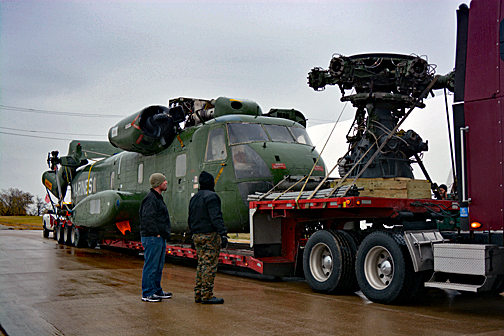 """Patches"" arrives at the Fort Worth Aviation Museum, November 24, 2013."