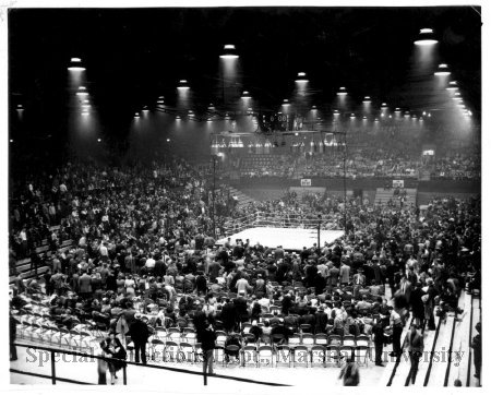 Boxing event at the Field House, 1950's