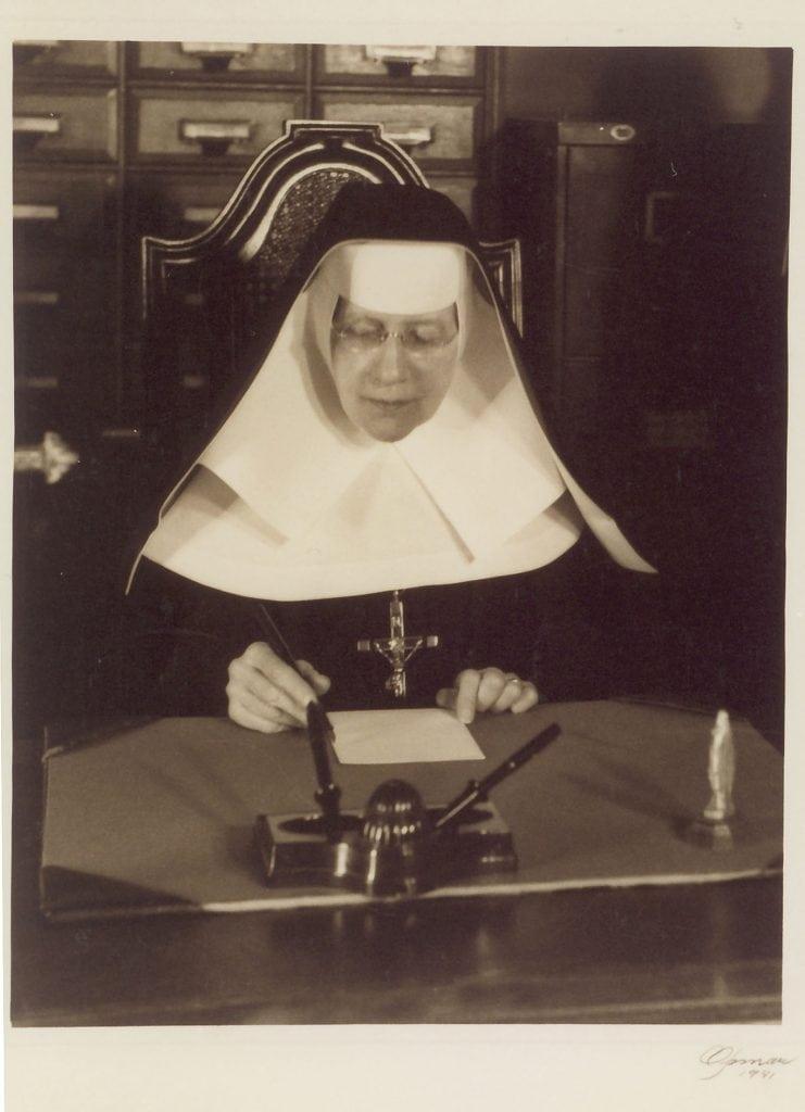 Katharine Drexel Working at Her Desk
