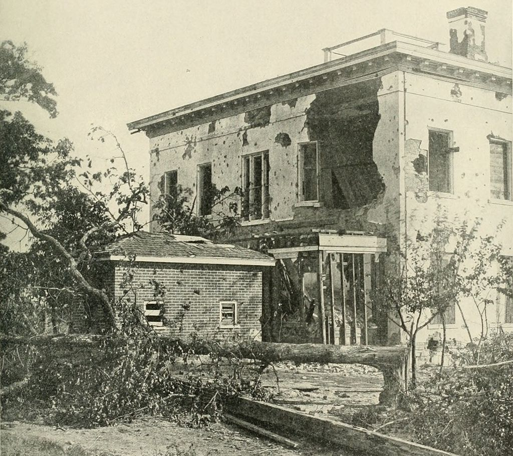 The Potter (or Ponder) House in Atlanta housed Confederate sharpshooters until Union artillery made a special target of it.