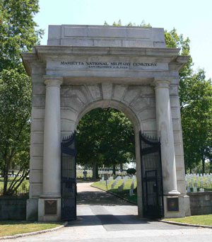 The Marietta National Cemetery was established in 1866.