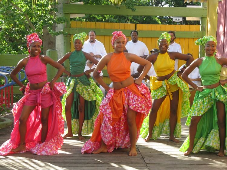 "Cultural clothing for the national dance: ""Bomba y Plena."" The long skirt is necessary for the movements that this dance represents, and the turban on the head is very representative of African ancestors."