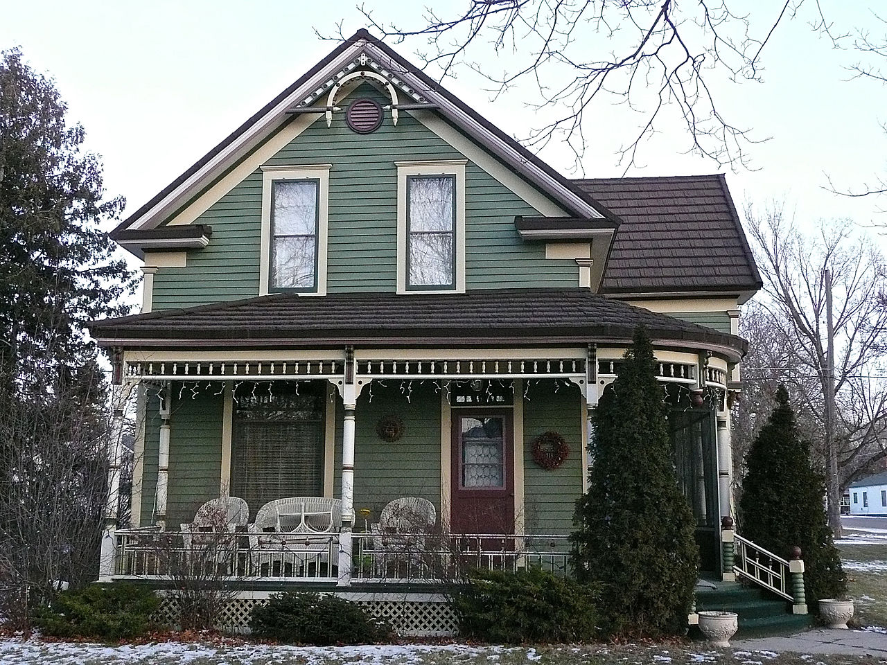 The Albert May House was built in 1898. Its namesake, Albert May, was Stevensville's first mayor.