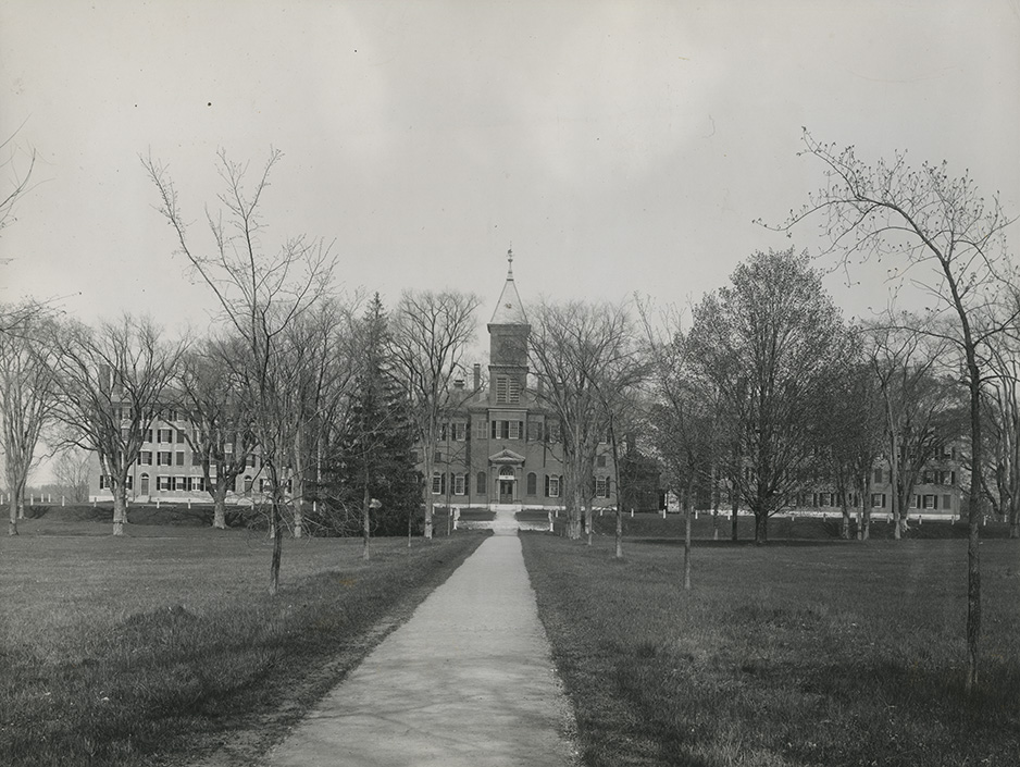 Seminary Row, with Pearson Hall in center, 1870-1908