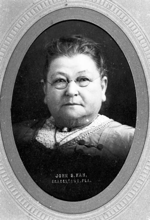 Portrait view of Eliza Burts Vanderipe, the wife of W.H. Vanderipe, Sr., ca. 1893-1903