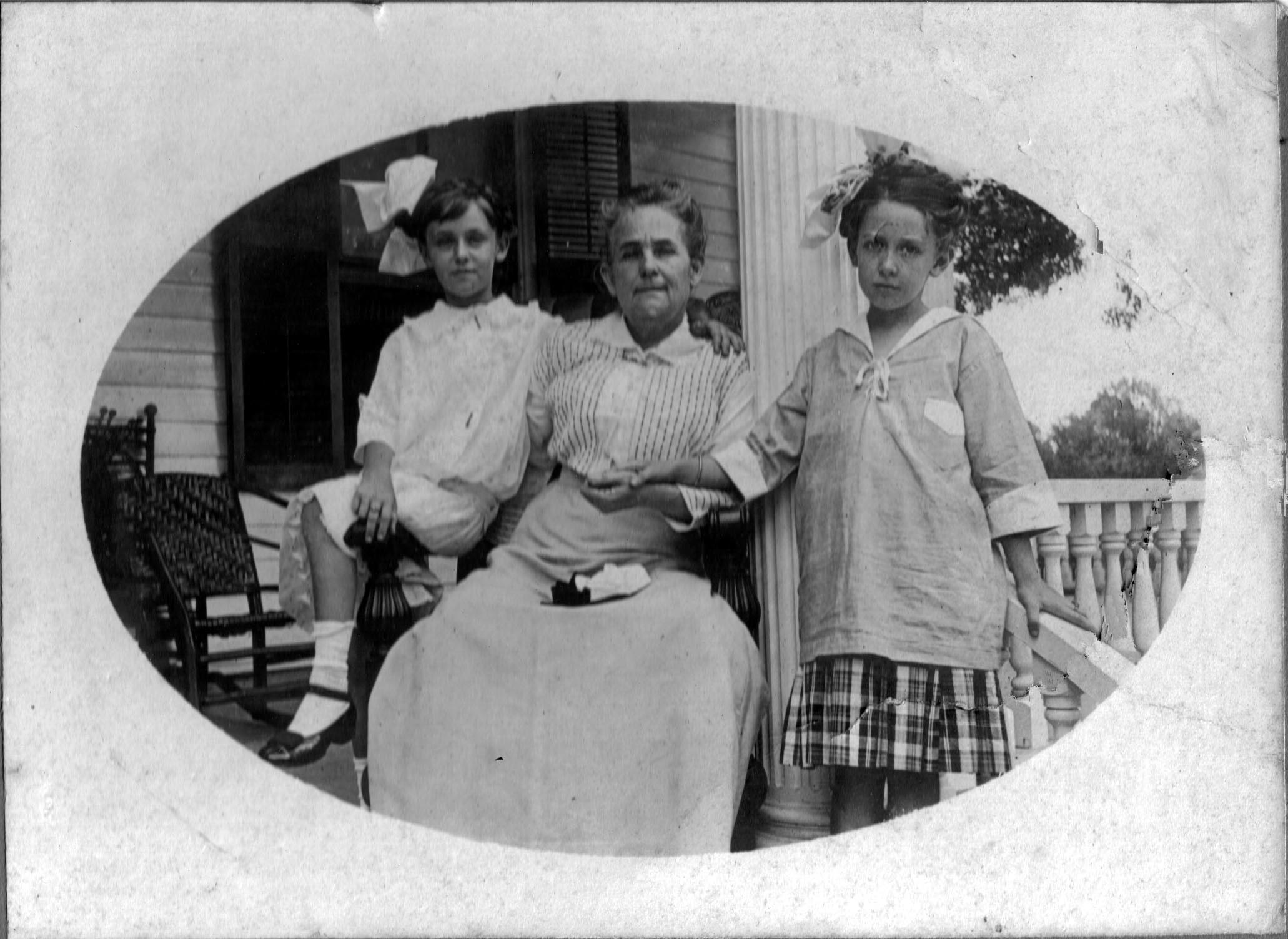 Mrs. Georgia Watson with her granddaughters, Georgia Lee and Georgia Watson